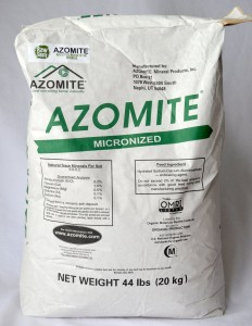 Azomite: For soil remineralization.
