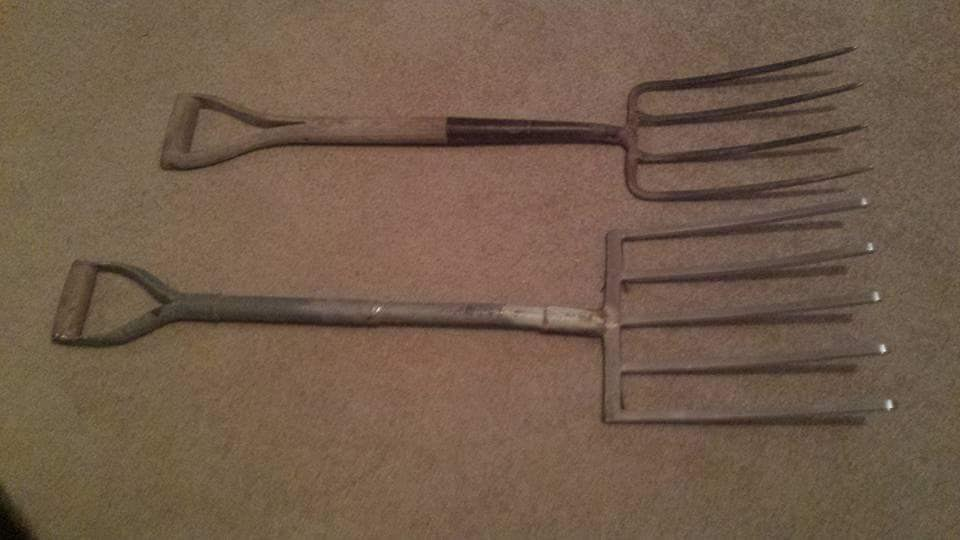 The five tine fork is great for the double dig